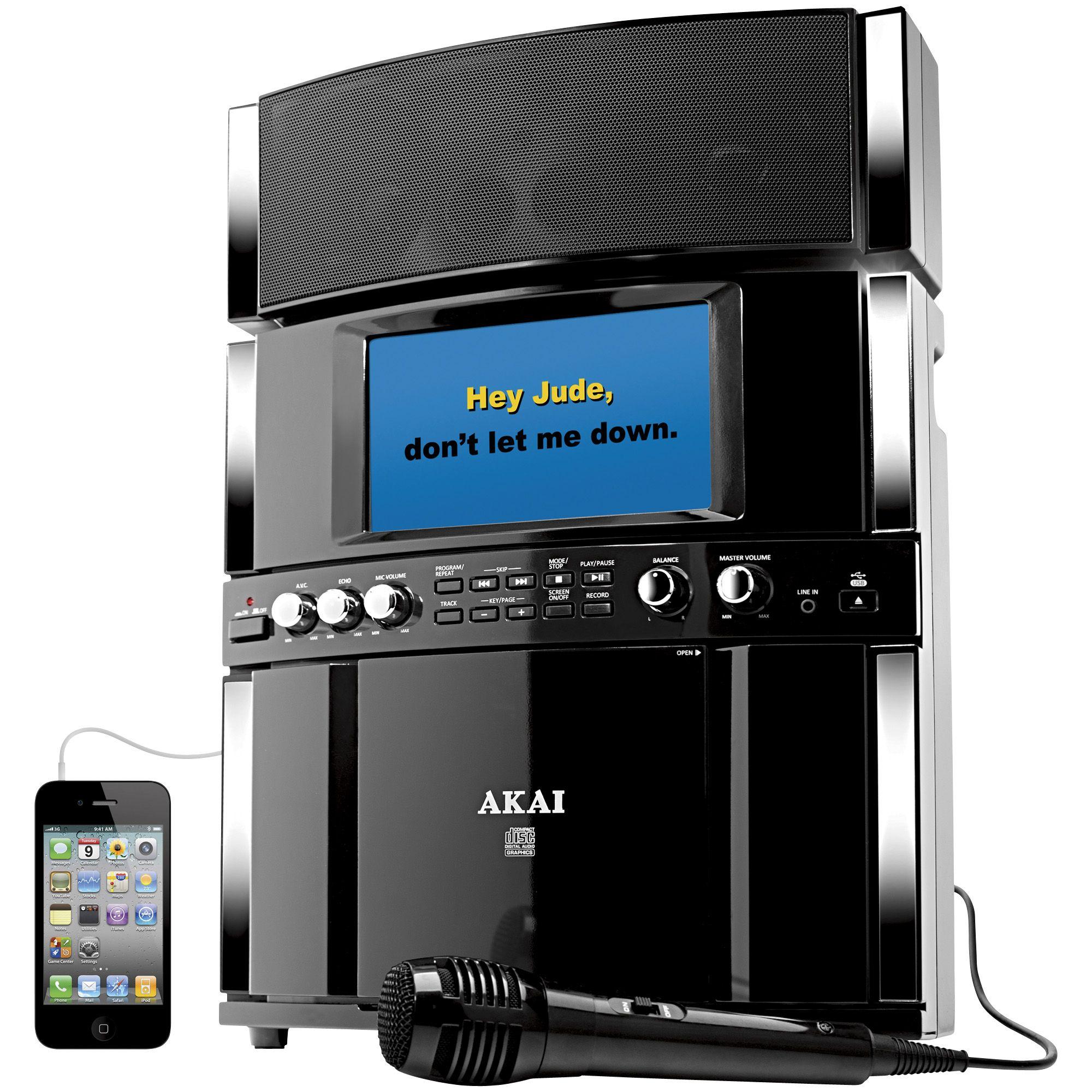 akai ks800 pro karaoke machine system with 7 screen ebay. Black Bedroom Furniture Sets. Home Design Ideas