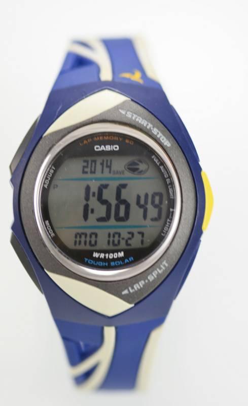 27ce99002ed4 Casio Tough Solar PHYS 100M WR Digital Alarm Chrono Timer Sports Watch  STR-200