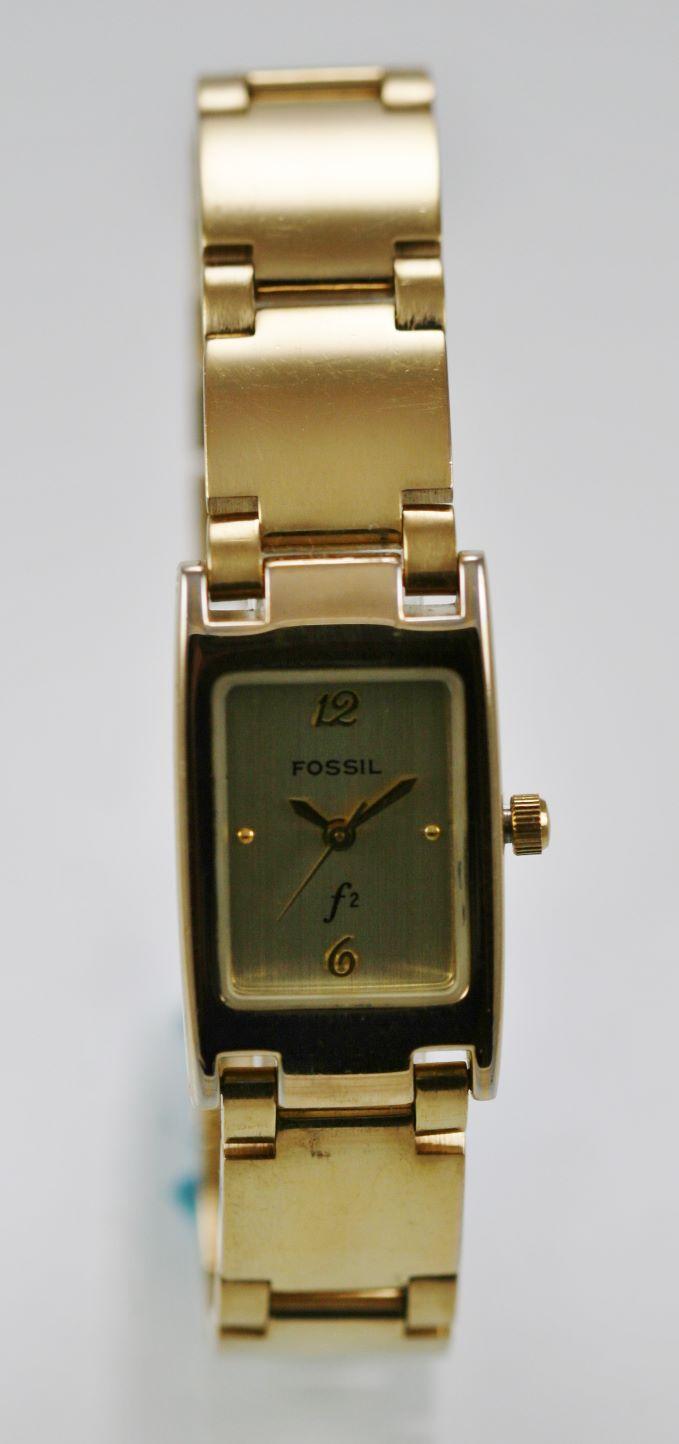 2832a2677dd8 Fósiles F2 reloj mujer acero inoxidable acero oro batería resistente al  agua blanco cuarzo