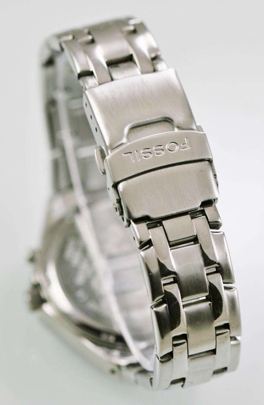 48185d676002 Fossil Reloj Hombre Acero Inoxidable Plata Resistente Al Agua 100m ...