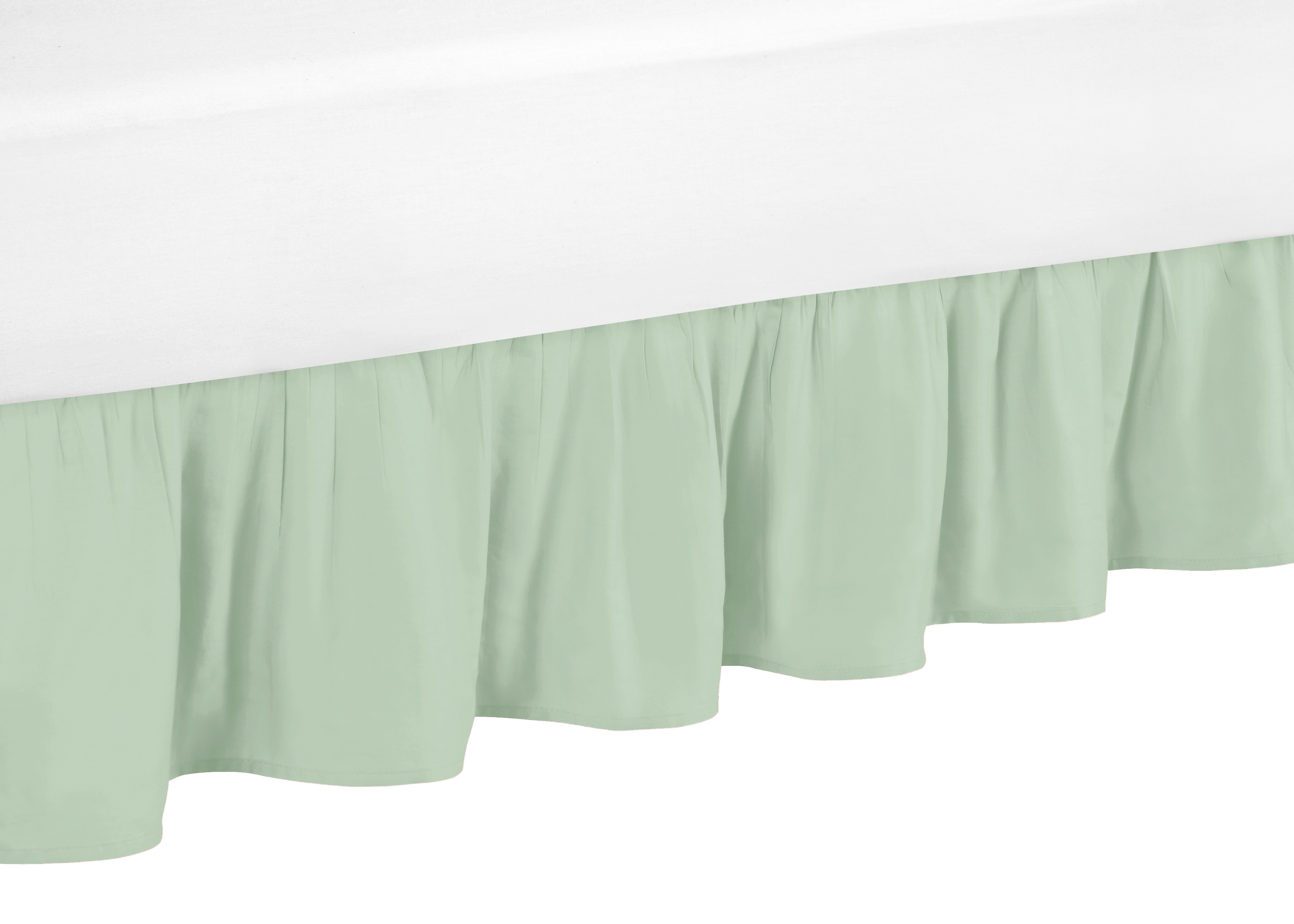 Mint Green Queen Size Bed Skirt Dust Ruffle For Sweet Jojo