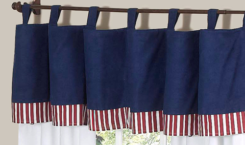 Red White Blue Window Valance Curtain For Sweet Jojo Designs Aviator