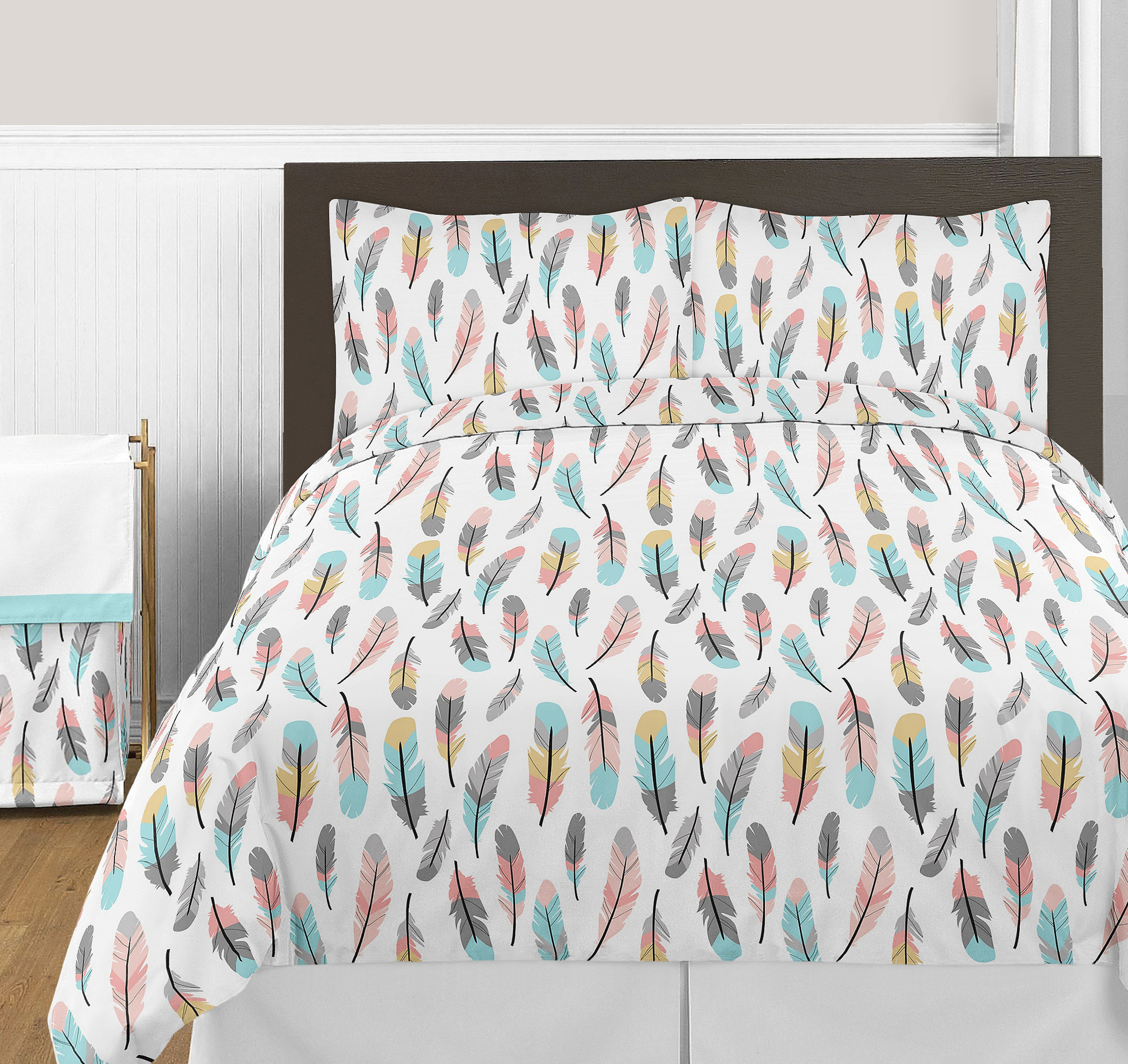 parker pin crib yellow bedding turquoise bed with babies nursery aqua and coral davinci