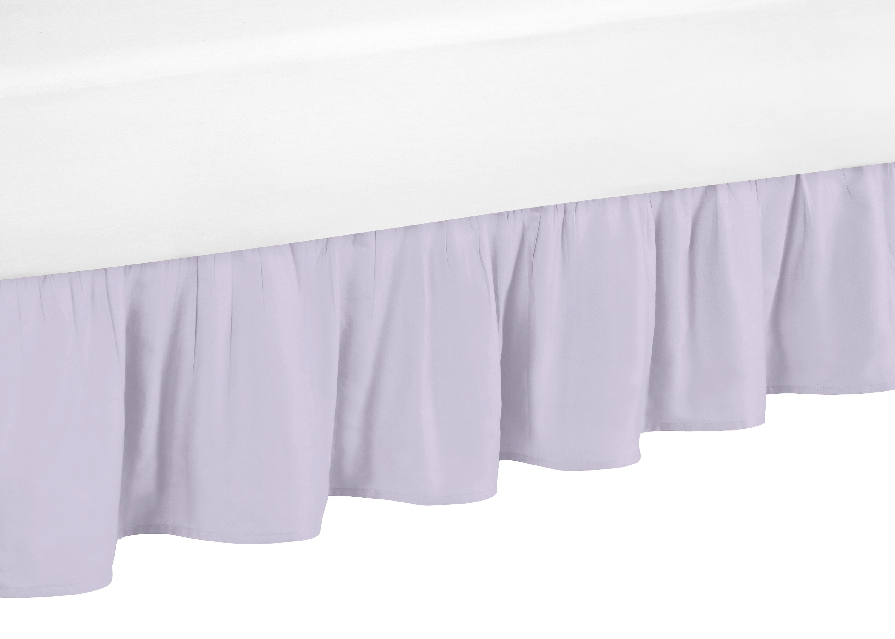 Sweet Jojo Designs Pink and Green Boho Watercolor Pleated Toddler Bed Skirt Dust Ruffle for Cactus Floral Collection