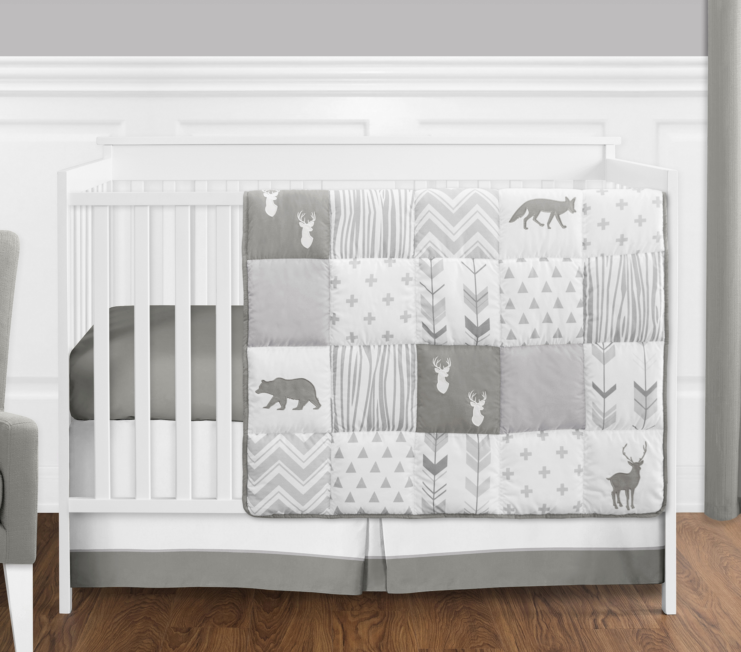 pink designs baby crib bedding collection grey com ifsl girl amazon sweet cribs and set dp jojo watercolor white floral blush