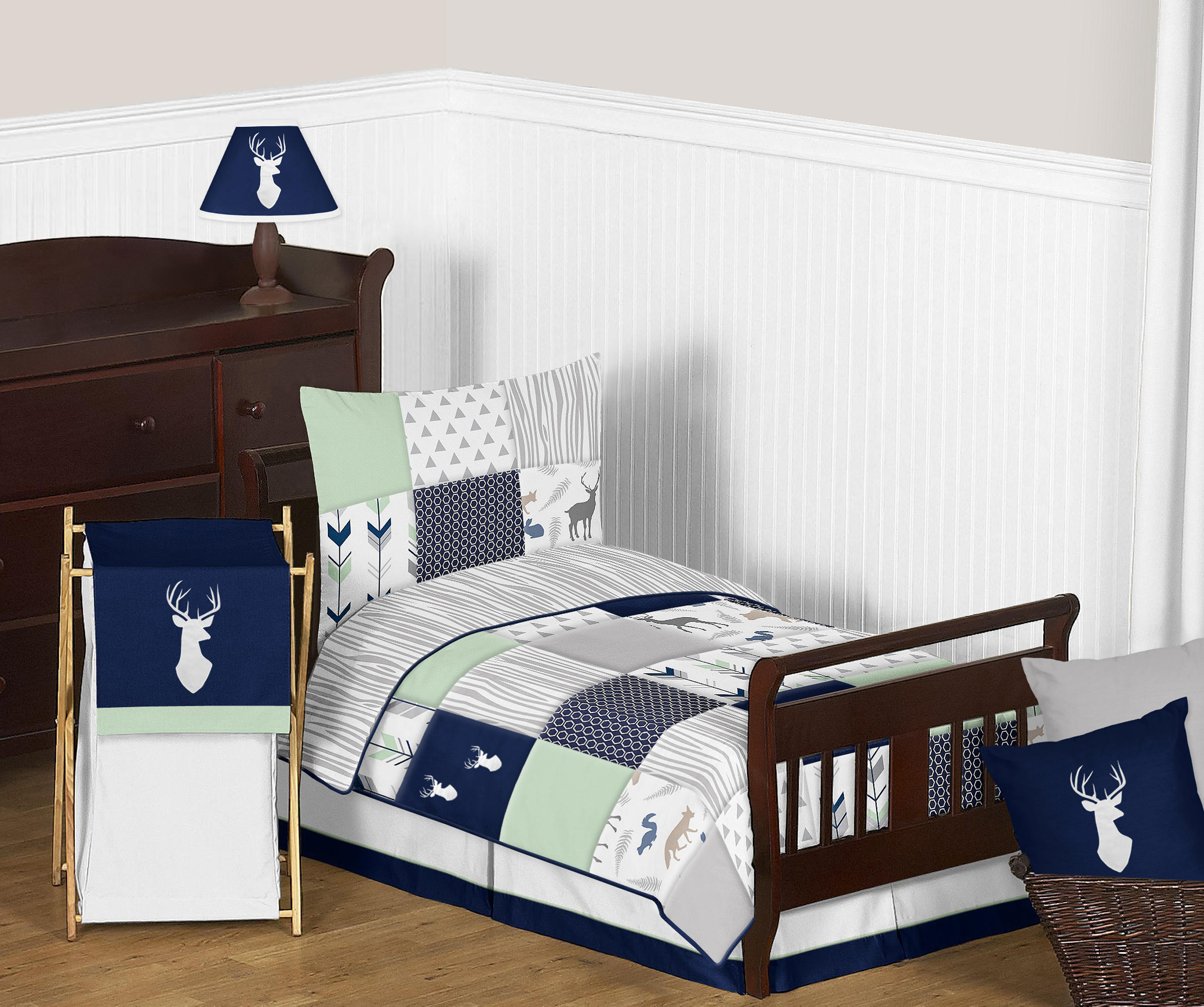 Sweet Jojo Woodland Arrow Blue Gray Boys Children Sheet Toddler Size Bedding Set 846480042754 Ebay
