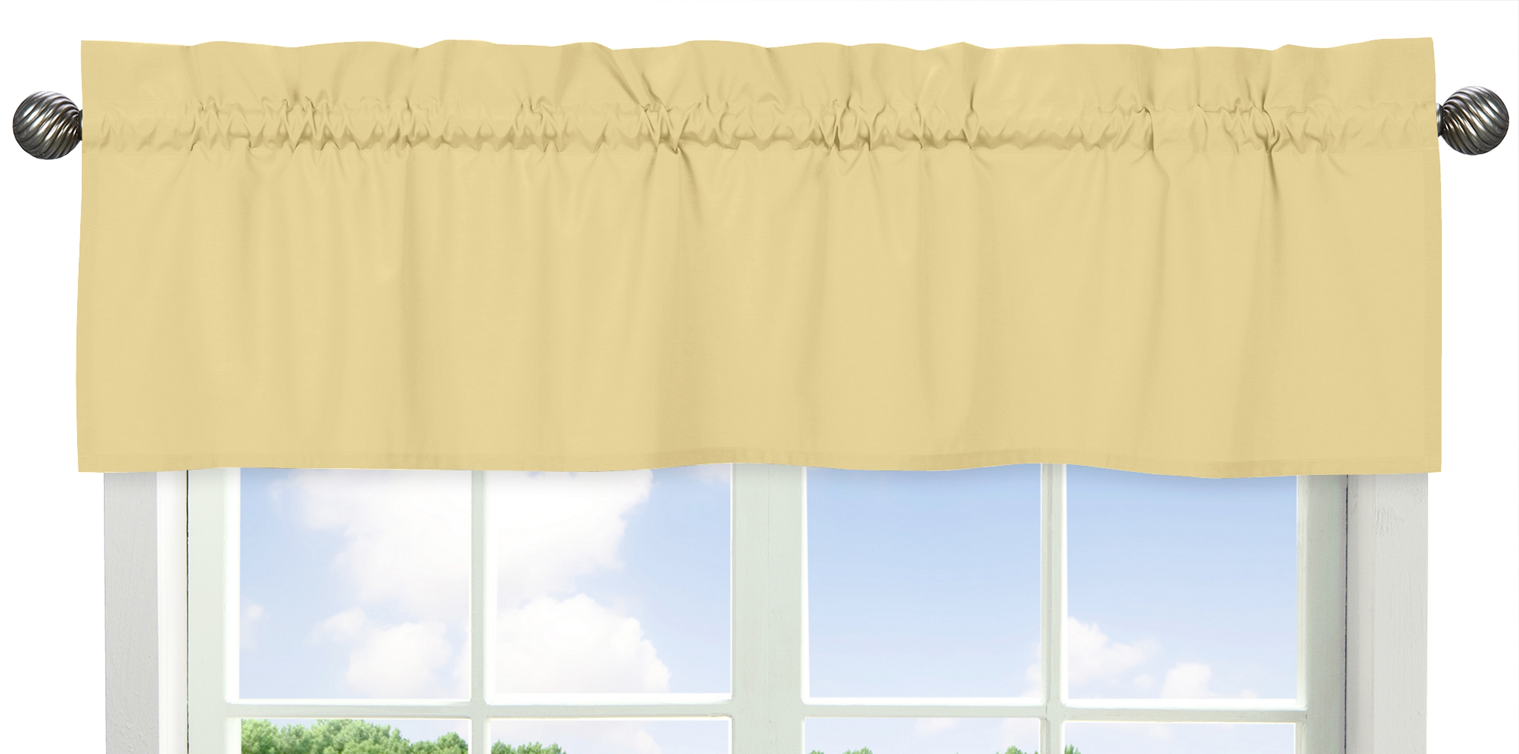Details about Yellow Window Valance Curtain For Sweet Jojo Designs Bedding  Bedroom Decor