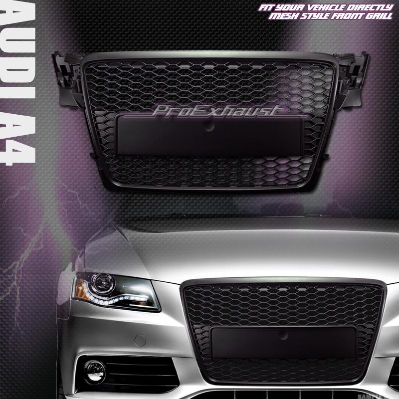 blk rs style honeycomb mesh front hood bumper grill grille. Black Bedroom Furniture Sets. Home Design Ideas