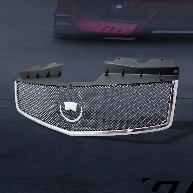 CHROME STAINLESS MESH FRONT HOOD BUMPER GRILL GRILLE 2003