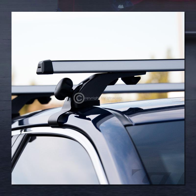 "Universal 55/"" Silver Window Frame Roof Top Rail Rack Tube Cross Bars Carrier G13"