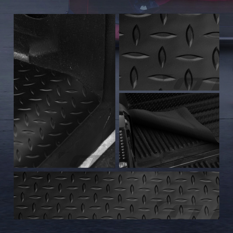Dodge Ram Bed Mat: FOR 2009-2017 DODGE RAM RAMBOX 6.4' BLACK RUBBER DIAMOND