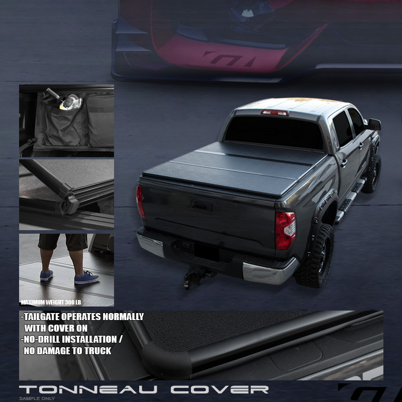 Tri Fold Solid Tonneau Cover Led Lights Kit 2014 2016