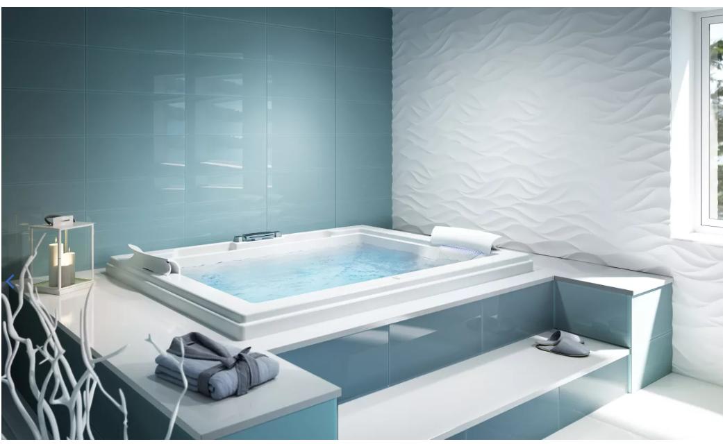 Jacuzzi FUZ7260WCR4IHW Fuzion 7260 Whirlpool Bath Undermount - White ...