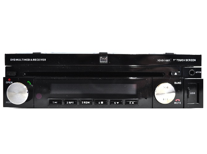 dual xdvd110bt 7 touchscreen av cd dvd receiver with. Black Bedroom Furniture Sets. Home Design Ideas