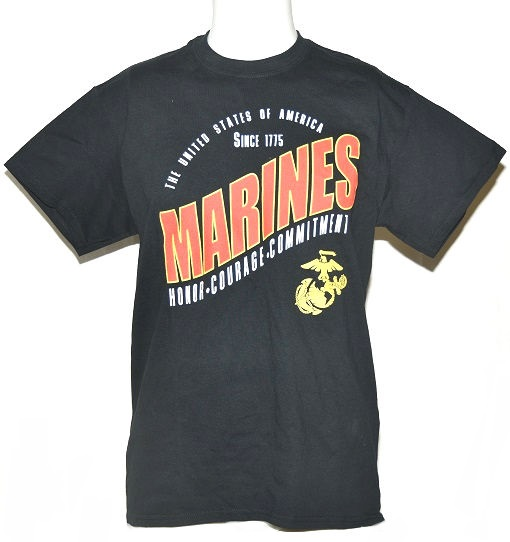 Gildan Activewear Men's Military Navy T-Shirt in Black - Med