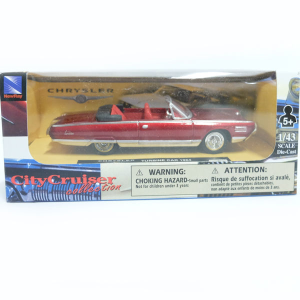 1964 Chrysler turbine Car Convertible City Cruiser NewRay 1:43 FREE SHIPPING