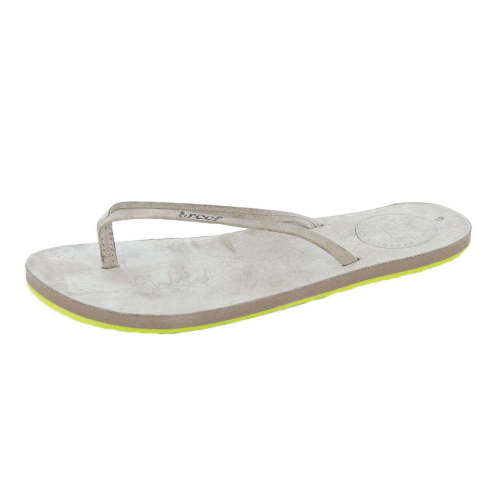 7141709dba25 Reef Women s Reef Leather Uptown Sandals Grey - MetroShoe Warehouse
