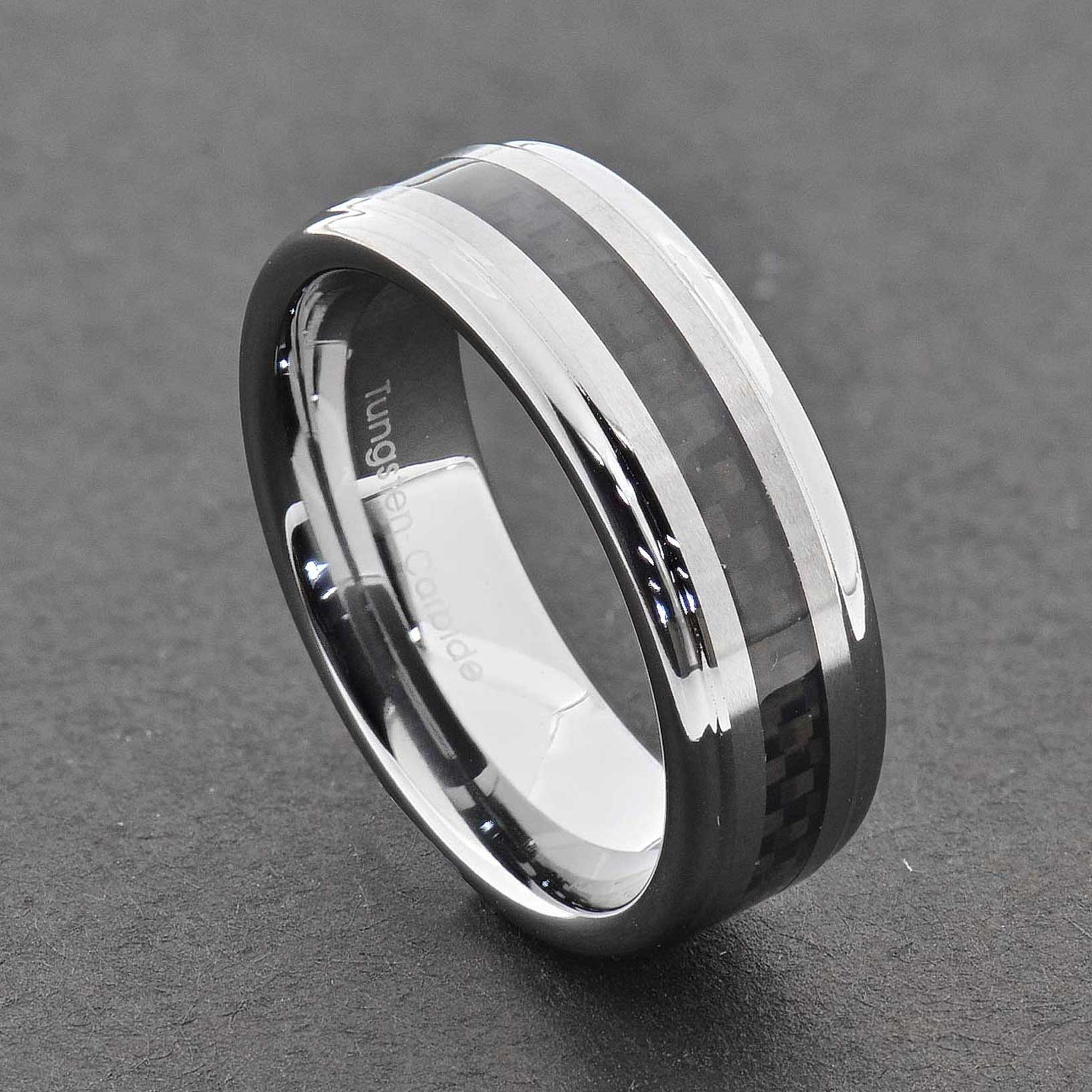 jewelry dome scratch wedding men carbide comfort hi with tech item polished silver tungsten rings big fashion fit proof color high for sizes s classic mens band ring