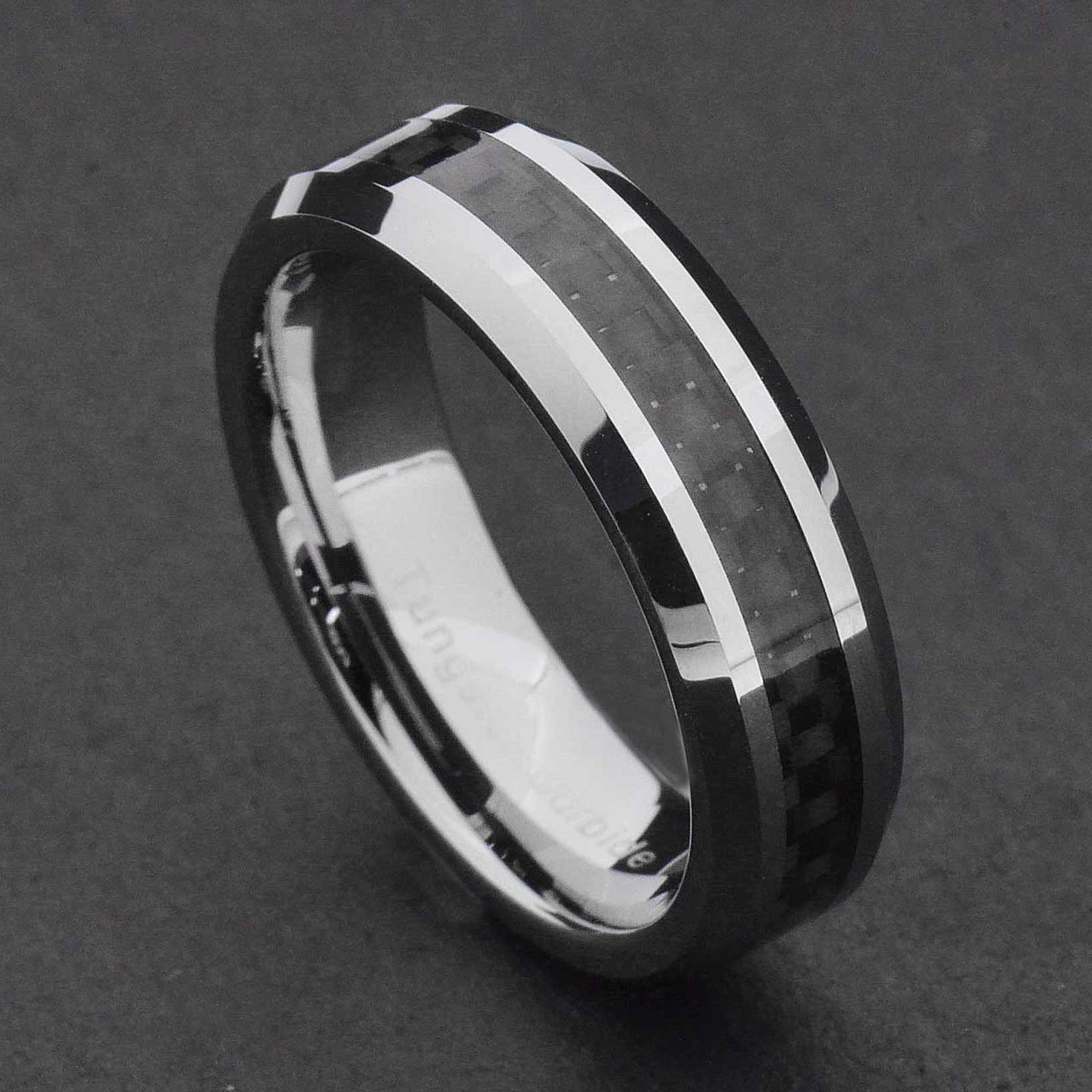 tungsten wedding rings 6mm tungsten carbide black carbon fiber women s wedding 8108