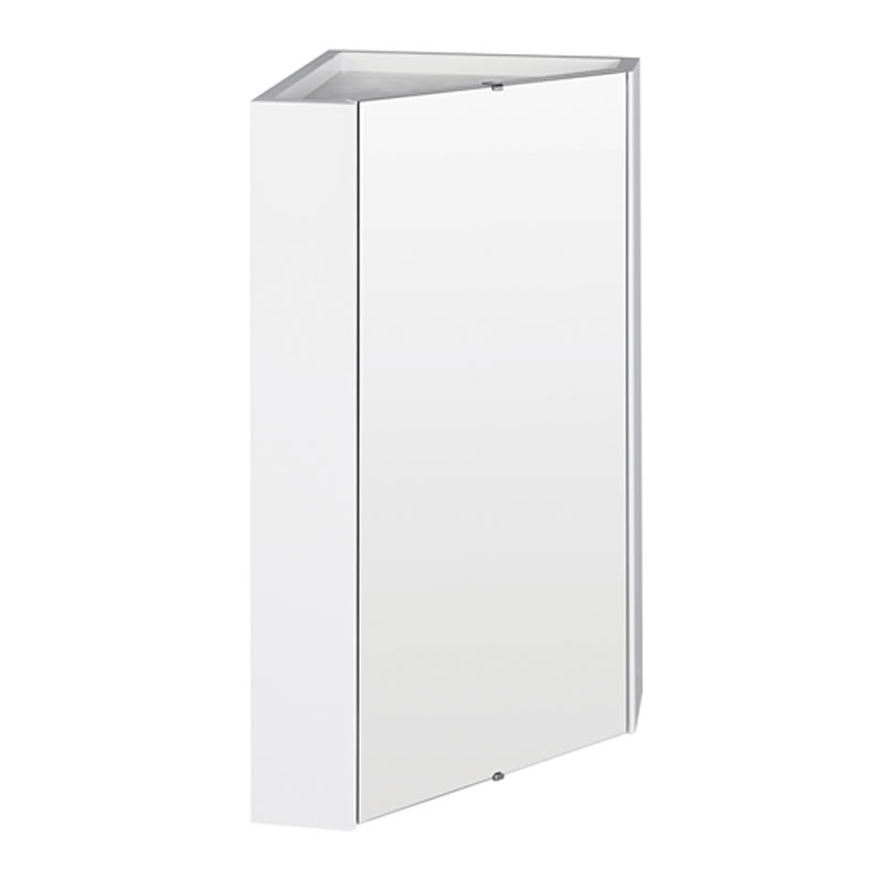 White Gloss Bathroom Wall Corner Mirror Storage Cabinet Unit With Shelf Ebay