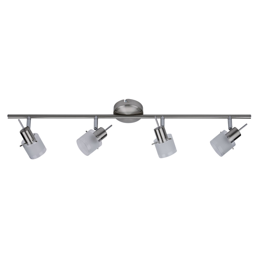 1 2 3 4 spotlight wall or ceiling bar light fixture fitting satin 1 2 3 4 spotlight wall or ceiling arubaitofo Image collections