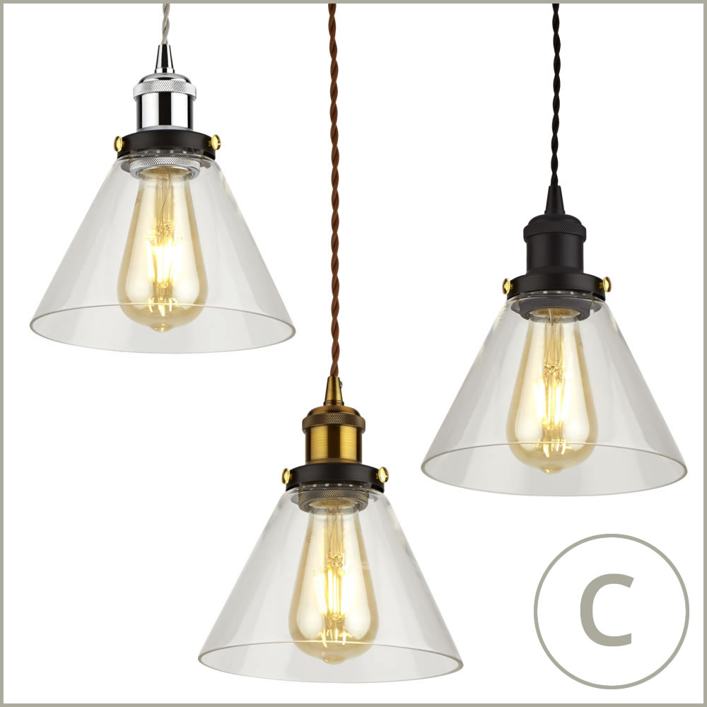 vintage glass ceiling light shade fitting with metal pendant lamp