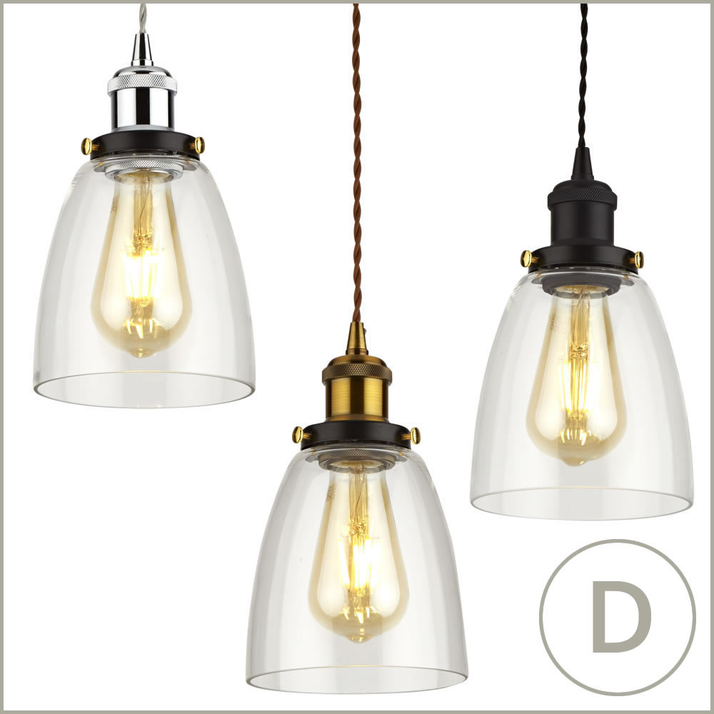 Vintage-Glass-Ceiling-Light-Shade-Fitting-with-Metal-Pendant-Lamp-Holder-Kit
