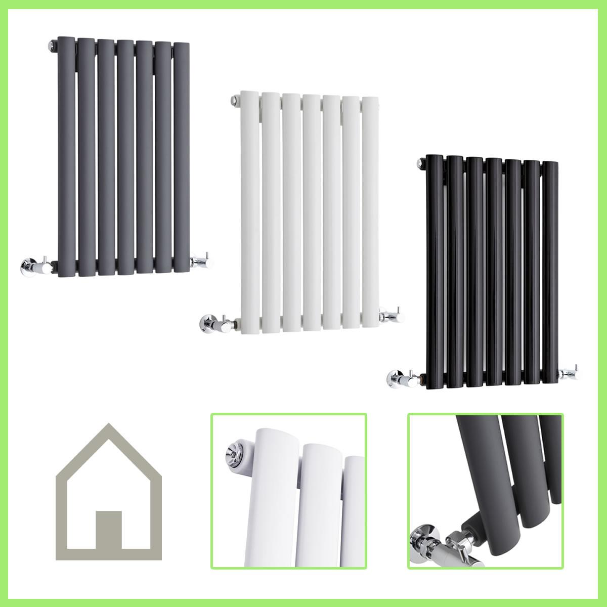 Horizontal DESIGNER Column RADIATORS Double & Single Central Heating ...
