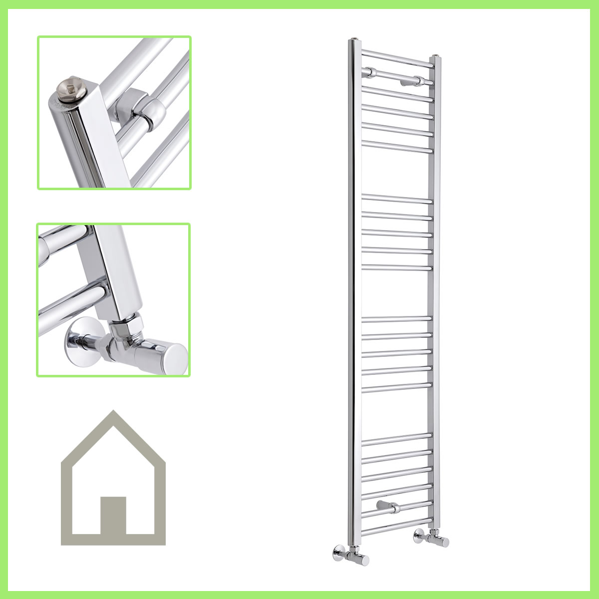 Chrome-Heated-Bathroom-Central-Heating-Towel-Rail-Rad-Radiator-Curved-Flat
