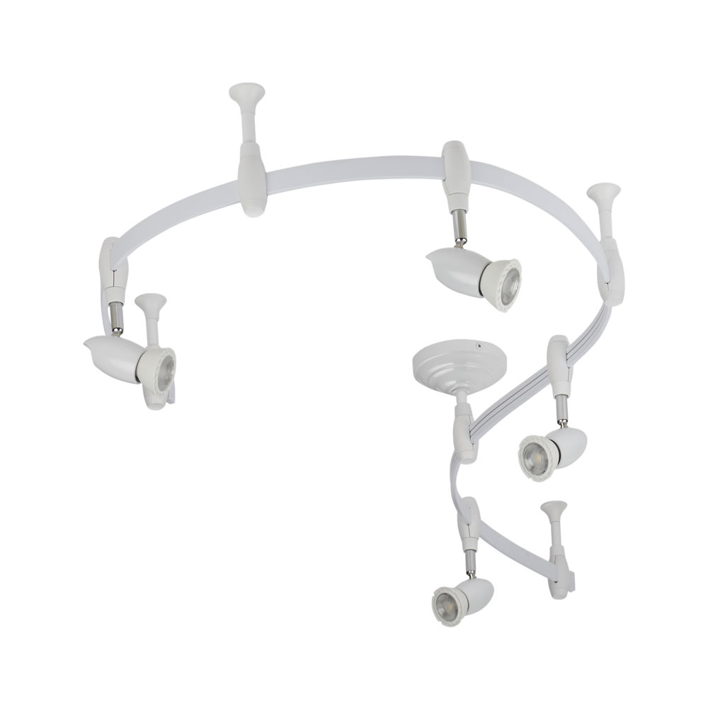 Track Lighting Kit Uk: White Monorail Flexible Track Lighting Kit