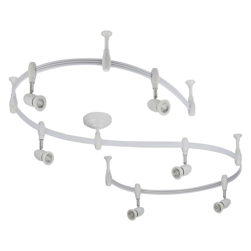 Led Flex Ii Track Lighting System: White Monorail Flexible Track Lighting Kit