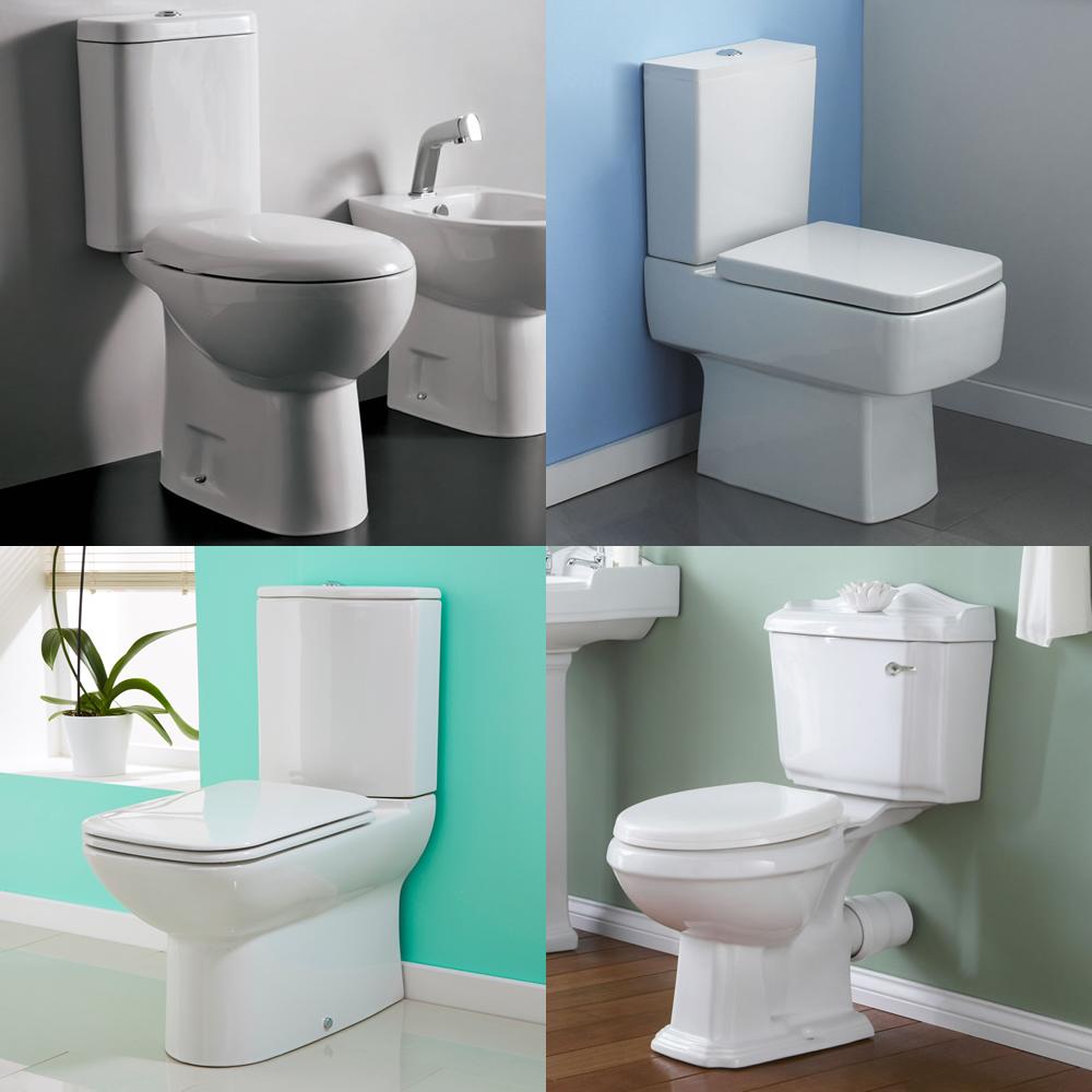 Various Modern White Ceramic Toilet WC Pan Cloakroom Bathroom Soft ...