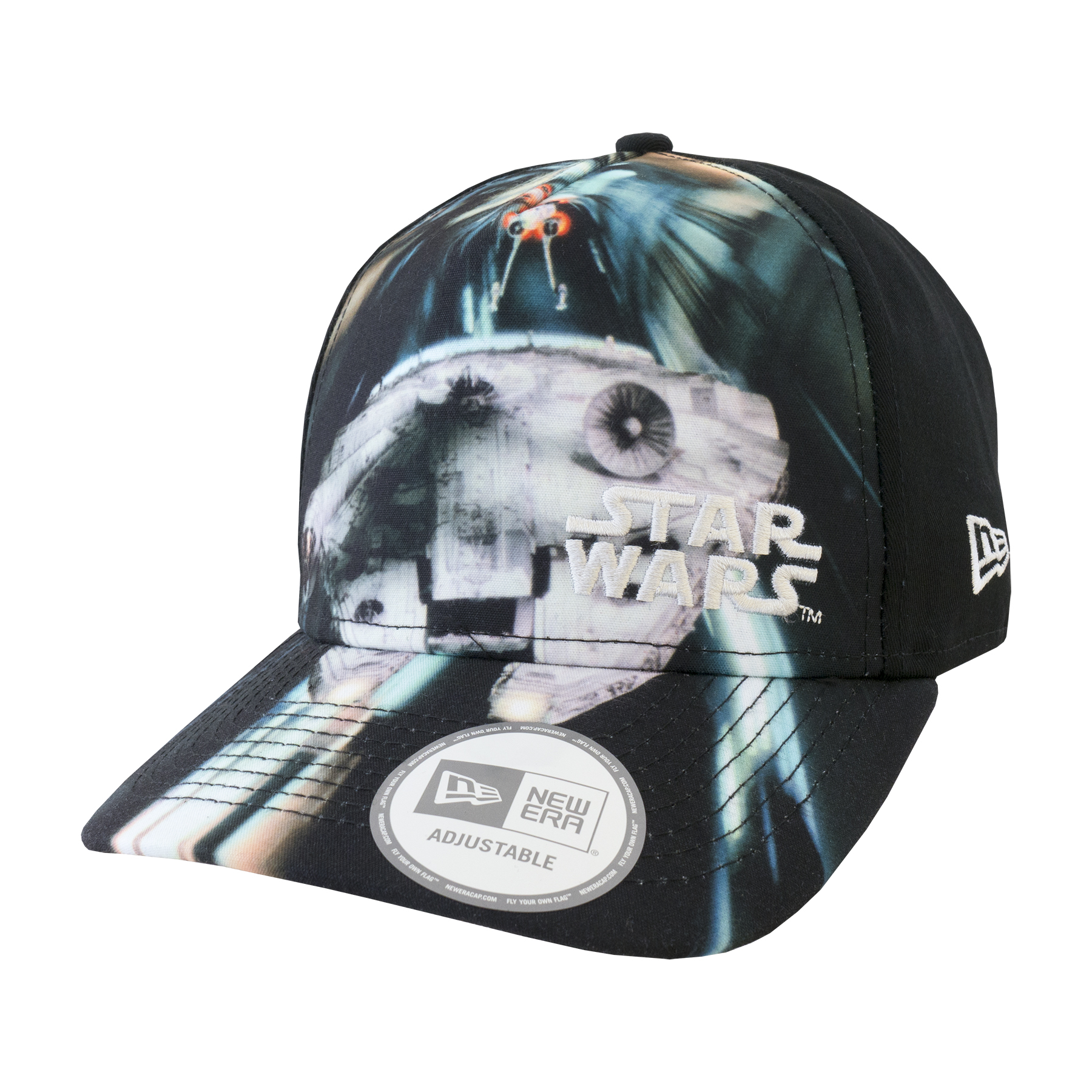 Details about New Era Star Wars Millennium Falcon Graphic Trucker Snapback  Baseball Cap rrp£20 01adf5ef31
