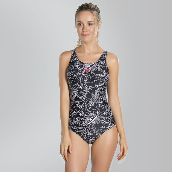 Speedo-Boom-Allover-Muscleback-Womens-Swimsuit-Choice-of-Colour-rrp-37 thumbnail 7