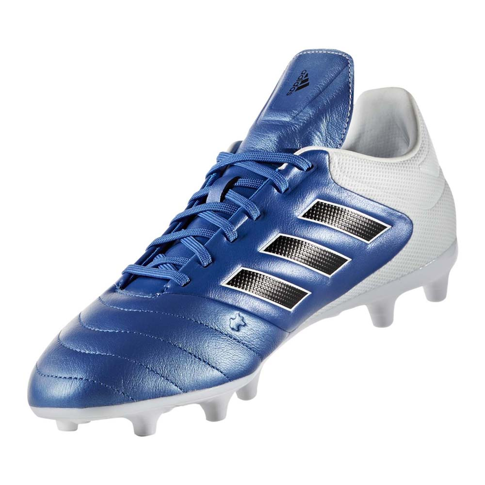 adidas Mens Copa 17.3 FG Leather Football Boots Blue  White
