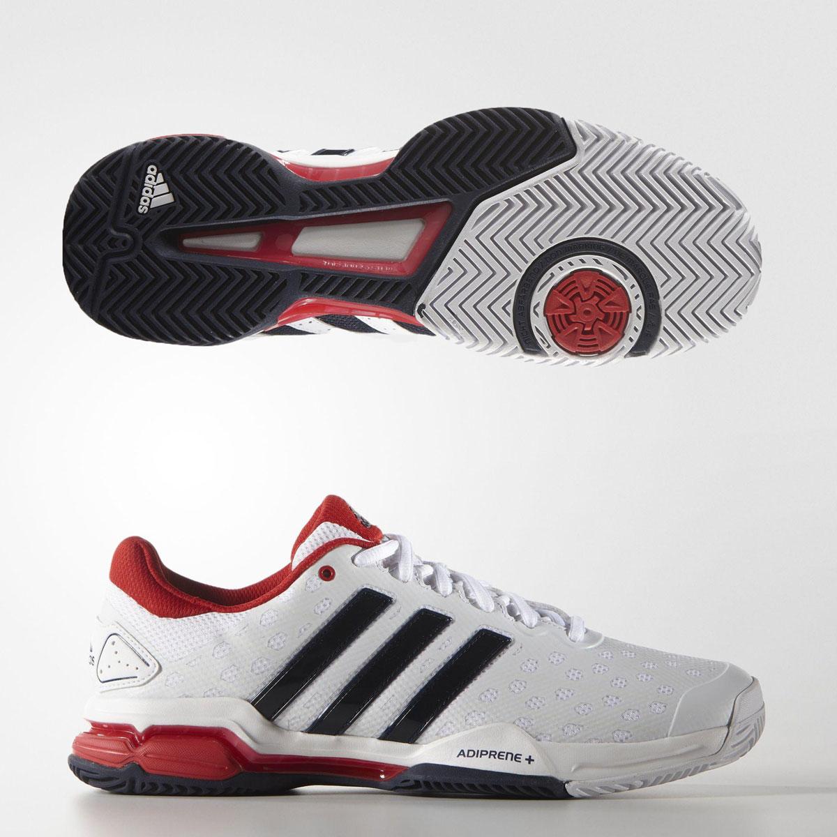 Dettagli su ADIDAS PERFORMANCE linea uomo scarpe da tennis BARRICATA CLUB  (AQ2287) RRP £ 65- mostra il titolo originale