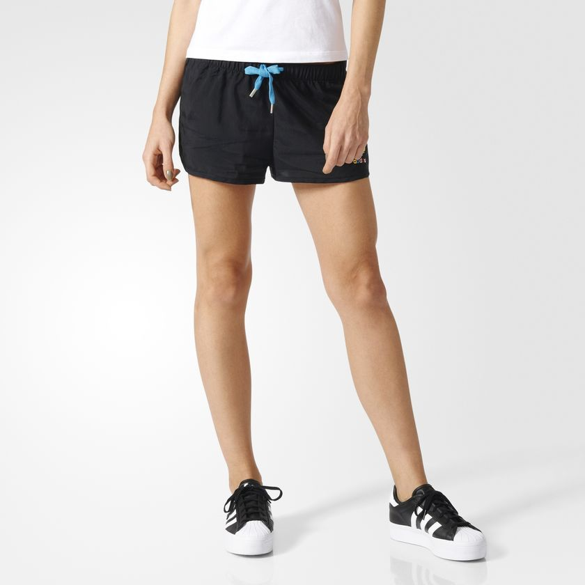 756735a1bc Details about adidas Originals Womens Running-Style Slim Shorts rrp£30