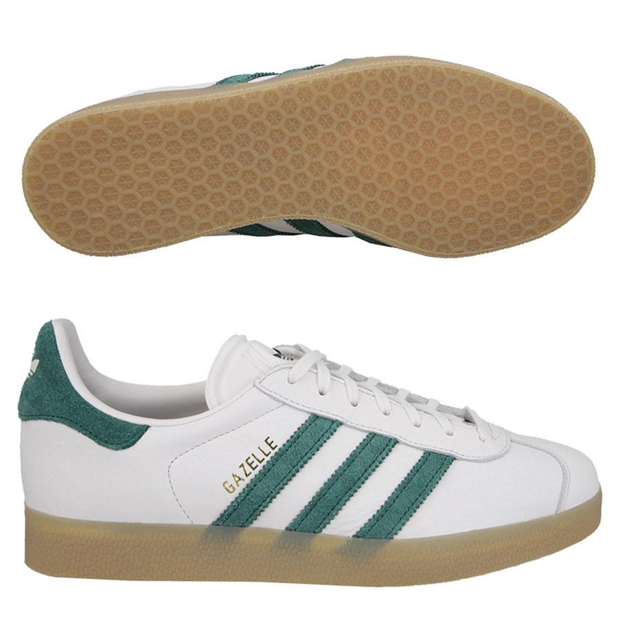 release date 30608 30b07 Détails sur Adidas Originals Gazelle Baskets Homme Blanc VINTAGE vert  (S76226) RRP £ 80- afficher le titre d origine