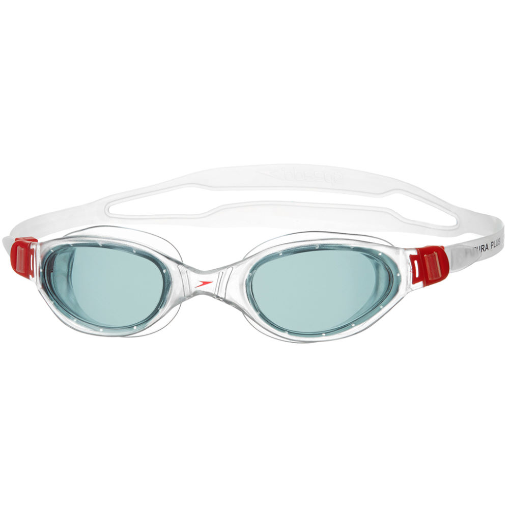 Speedo-Futura-Plus-Adult-Swimming-Goggles-Red-Smoke-or-Black-Clear-rrp-13