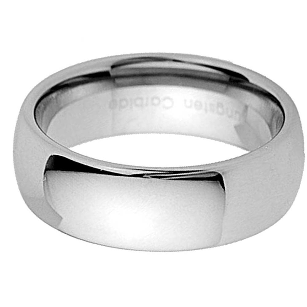 Tungsten-Carbide-Wedding-Band-Men-Women-Engagement-Bridal-Ring-Silver-Gold-Black thumbnail 12