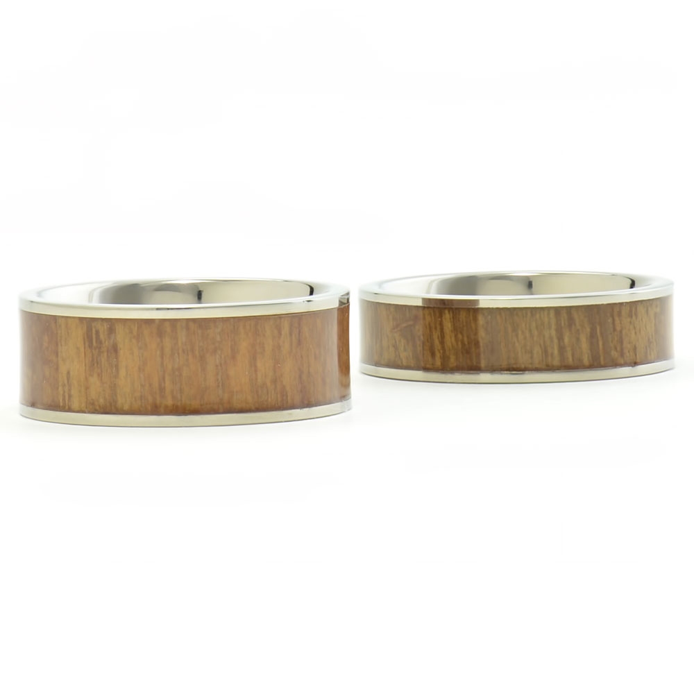titanium his and hers engagement wedding band