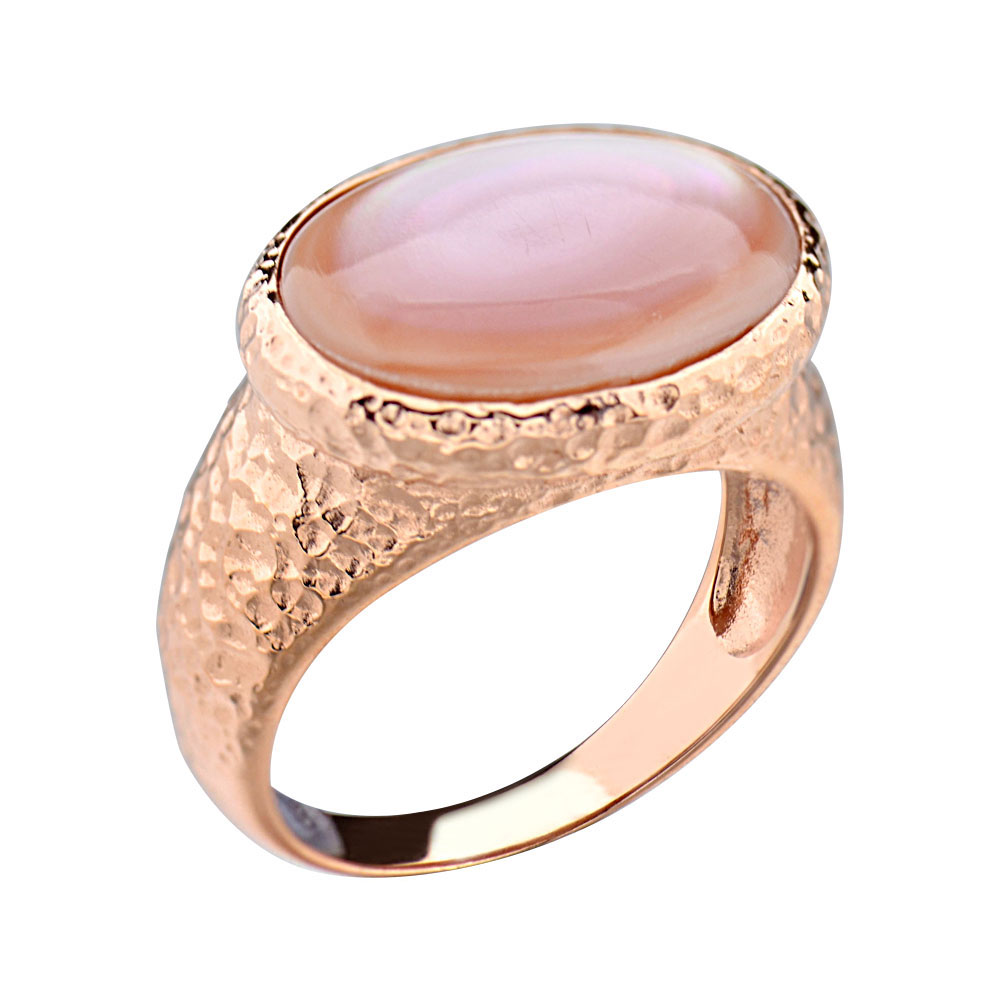 Rose Gold Plated Silver Pink Mother Of Pearl Women's