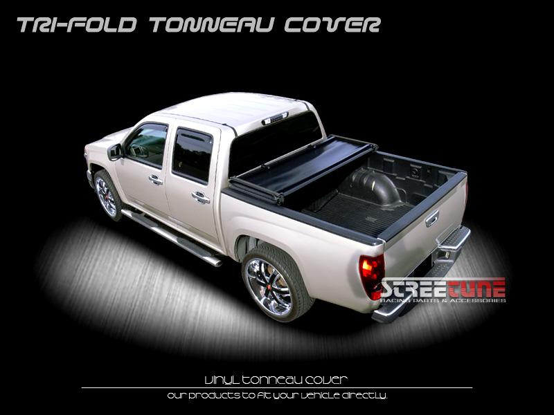 Tri Fold Soft Vinyl Tonneau Cover 2004 2013 Titan Crew Cab 5 5 ft 66' Truck Bed