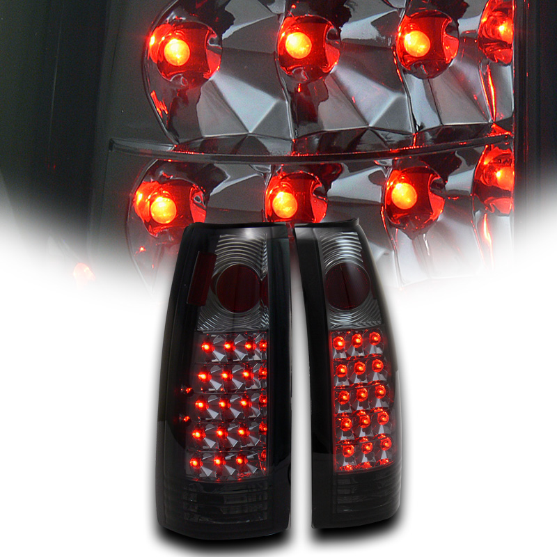 Chrome Tail Lights Chevy Cadillac GMC Various Models 1988-2000 Altezza