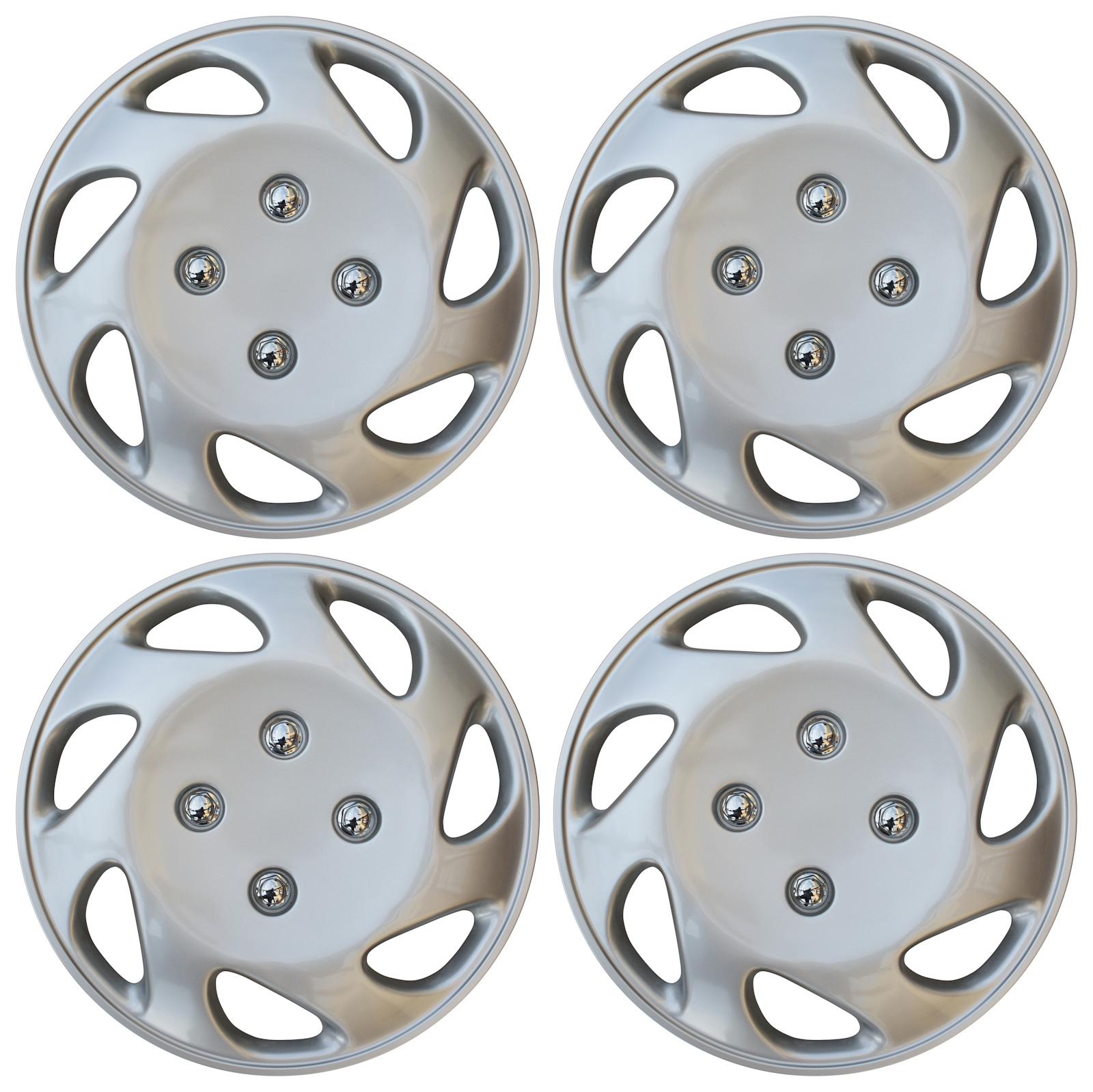 14 Honda Hubcaps >> 4 Pc Universal Hub Cap Abs Silver 14 Inch Rim Wheel Cover Caps Fits