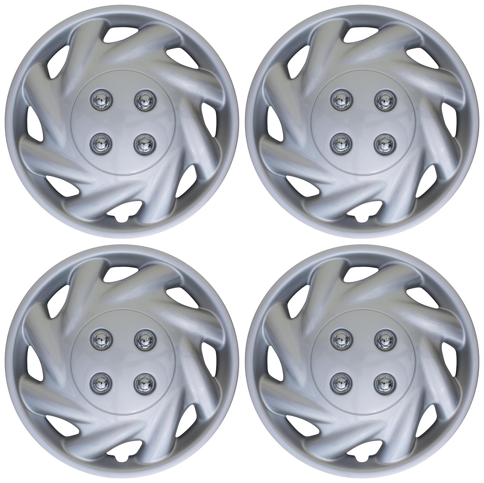 "4 Piece SET Hub Caps MATTE GUNMETAL 14/"" Inch Wheel Covers for OEM Rims Cover Cap"