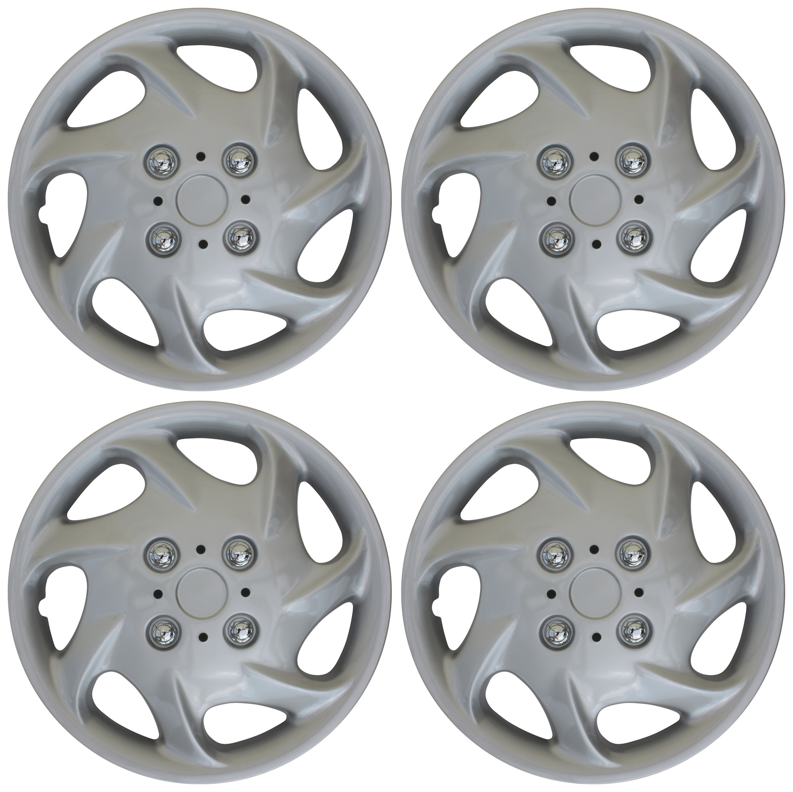 Cover Trend 13 Silver Lacquer Hub Caps Wheel Covers Set of 4