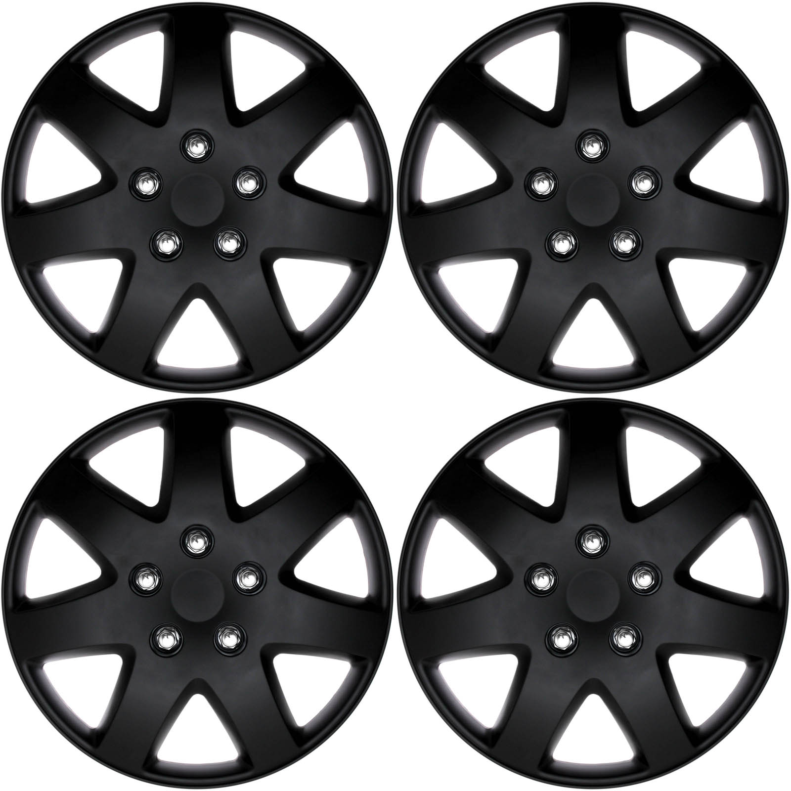 4 pc set of 16 matte black hub caps rim cover for oem steel wheel 1967 Ford Mustang Hubcaps details about 4 pc set of 16 matte black hub caps rim cover for oem steel wheel covers cap