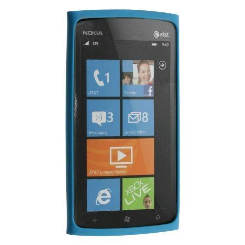 OEM Nokia Lumia 900 4G Slim Bumper Silicone Case - Blue (0721871)