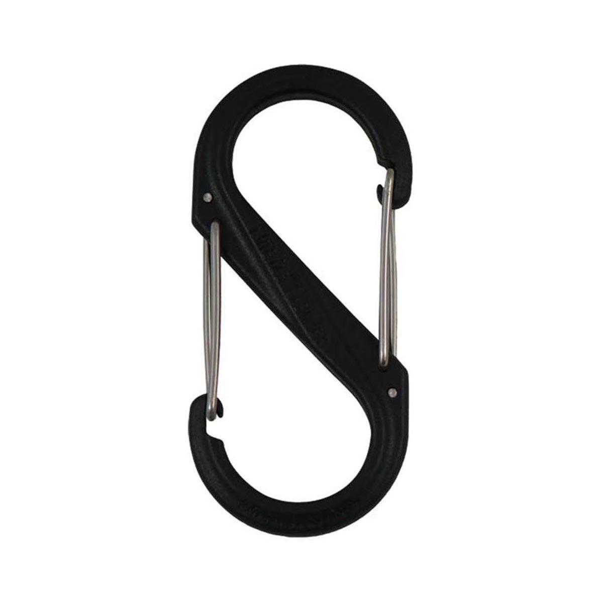 Nite Ize S-Biner Size-2 Dual Carabiner, Strong, Glass-Filled Nylon Plastic - Black